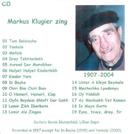Markus Klugier Zing