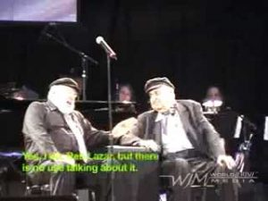 Theo Bikel and Fyvush Finkel - The National Yiddish Theatre - Folksbiene's Annual Gala