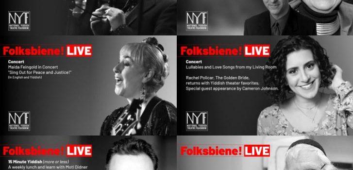 July: Folksbiene! LIVE programming