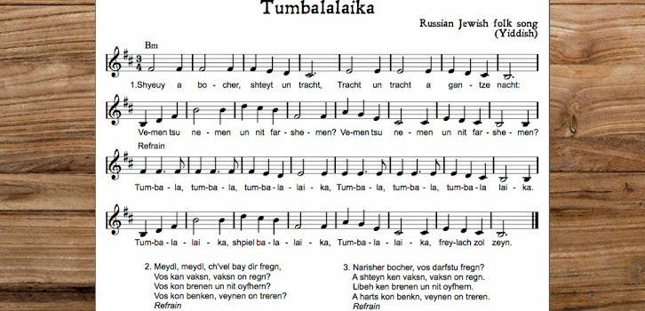"""""""Tumbalalaika"""", sixteen versions for you to enjoy!"""